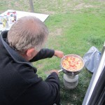 Geoff outside with his bbq