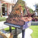 mosaic piano at The Giant's House Akaroa